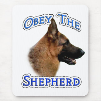 Obey the German Shepherd Mouse Pad
