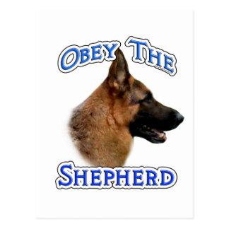Obey the German Shepherd Postcard