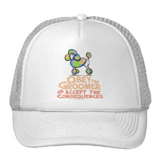 Obey The Groomer Rainbow Poodle Trucker Hat