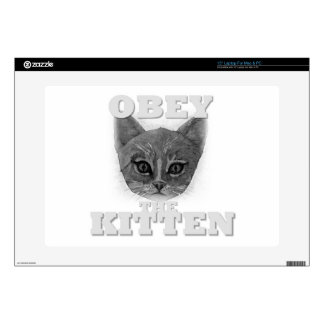 """Obey the Kitten 15"""" Laptop Decal"""
