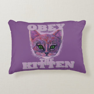 Obey the Kitten Accent Pillow