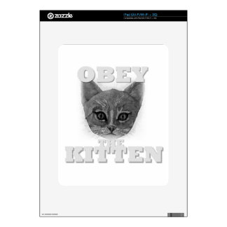Obey the Kitten Decal For The iPad