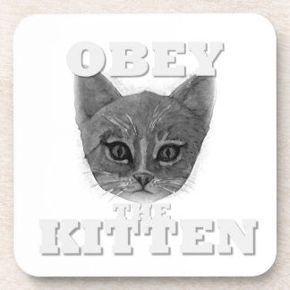 Obey the Kitten Drink Coaster