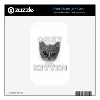 Obey the Kitten iPod Touch 4G Skins