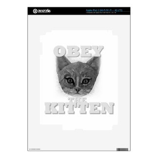 Obey the Kitten Skins For iPad 3