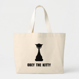 Obey The Kitty Large Tote Bag