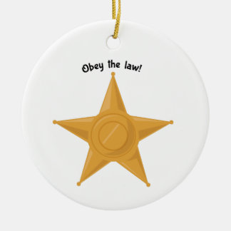 Obey The Law! Double-Sided Ceramic Round Christmas Ornament
