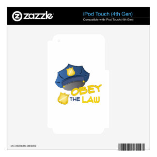 Obey The Law iPod Touch 4G Skins