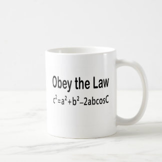 Obey the Law _ Law of Cosines Classic White Coffee Mug