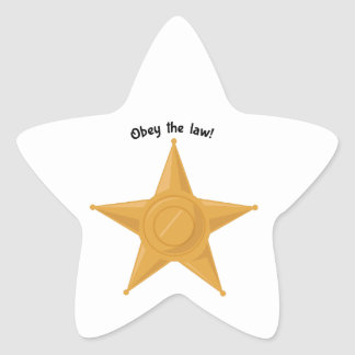 Obey The Law! Star Stickers