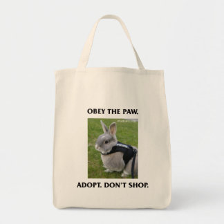 Obey the Paw Grocery Tote
