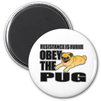 Obey The Pug Refrigerator Magnets