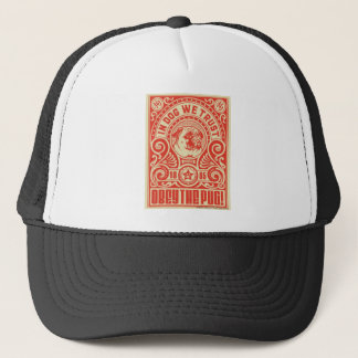 Obey the Pug Trucker Hat by nicola