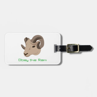 Obey the Ram Bag Tag