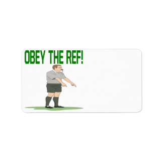 Obey The Ref Address Label