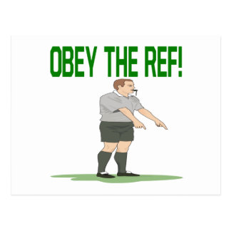 Obey The Ref Postcard