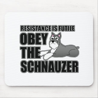 Obey The Schnauzer Mouse Pad