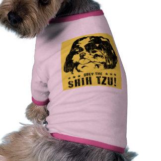 Obey the shih tzu pet clothes
