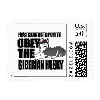 Obey The Siberian Husky Postage