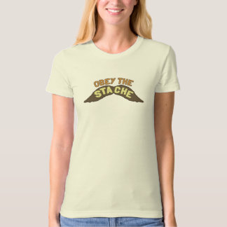 Obey the Stache tee shirt