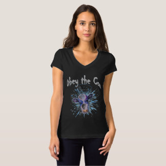 Obey the Telepathic Cow T-Shirt