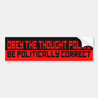 obey the thought police bumper sticker