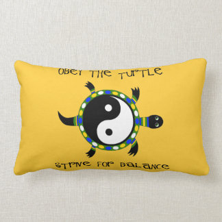 OBEY THE TURTLE... LUMBAR PILLOW