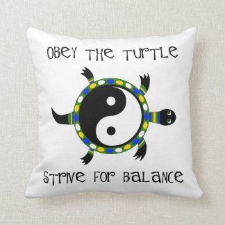 OBEY THE TURTLE... THROW PILLOW