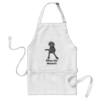 Obey the Weim!!! Adult Apron