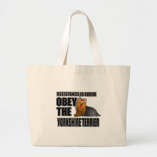 Obey The Yorkshire Terrier Tote Bags