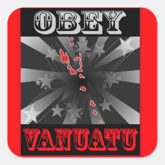 Obey Vanuatu Square Sticker