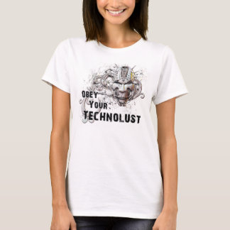 """""""Obey Your Technolust"""" Cyber Hacker Mask T-Shirt"""