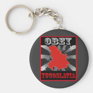 Obey Yugoslavia Key Chain