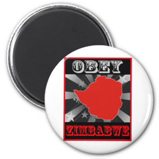 Obey Zimbabwe Magnets