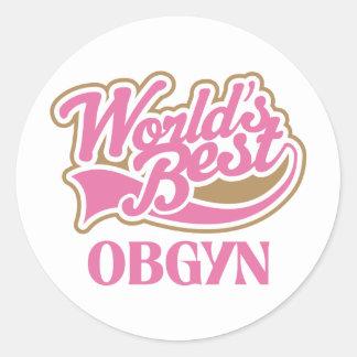 Obgyn Gift Round Sticker
