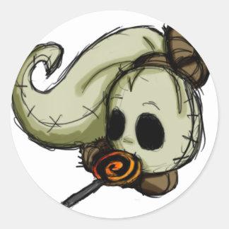 Obi likes candy classic round sticker