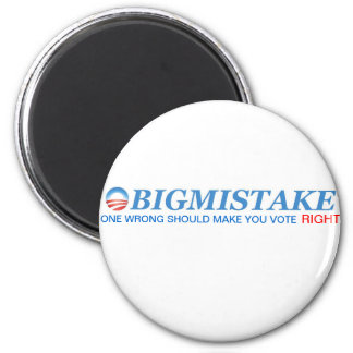 OBIGMISTAKE Button 2 Inch Round Magnet