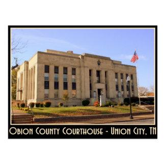 Obion County Courthouse - Union City, TN Postcard