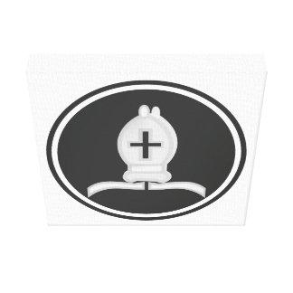 Obispo blanco Chess Impresión En Lona