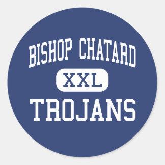 Obispo Chatard - Trojan - alto - Indianapolis Pegatina Redonda