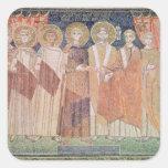 Obispo de concesión de Constantina IV privilegios Pegatina Cuadrada