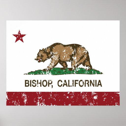 Obispo de la bandera de la república de California Póster