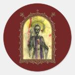 Obispo de los azules del vudú pegatina redonda