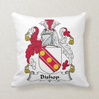 Obispo Family Crest Cojín