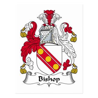 Obispo Family Crest Tarjetas Postales