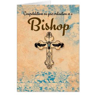 Obispo Ordination In Parchment de la enhorabuena Tarjeta De Felicitación