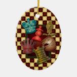Obispo Pawn del caballero del rey reina del diseño Ornaments Para Arbol De Navidad