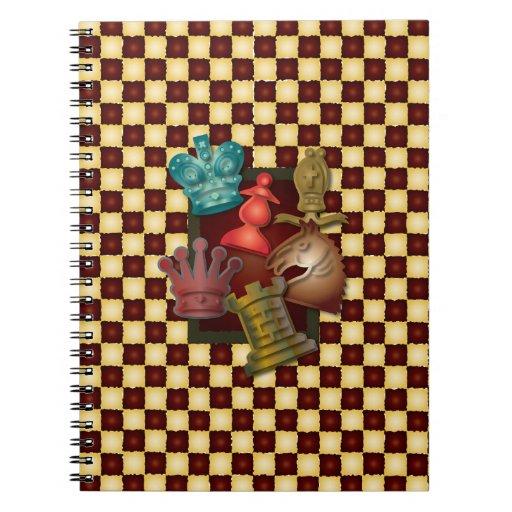 Obispo Pawn del caballero del rey reina del diseño Cuadernos