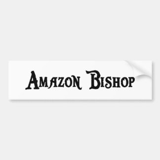 Obispo pegatina para el parachoques del Amazonas