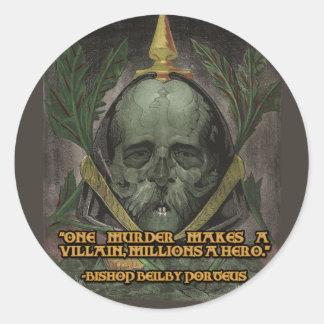 Obispo Porteus Quote en héroes y malvados Pegatinas Redondas